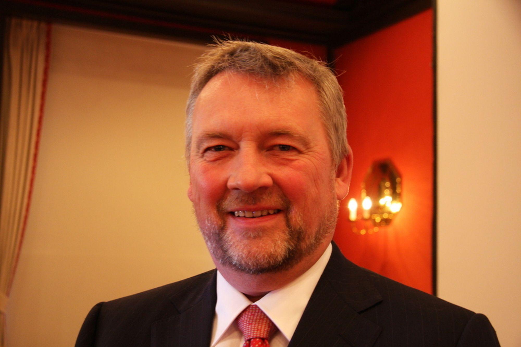 NYVALGT: I går kveld ble direktør Thor Jørgen Guttormsen (61) i Leif Höegh & Co valgt til ny president i Norges Rederiforbund.