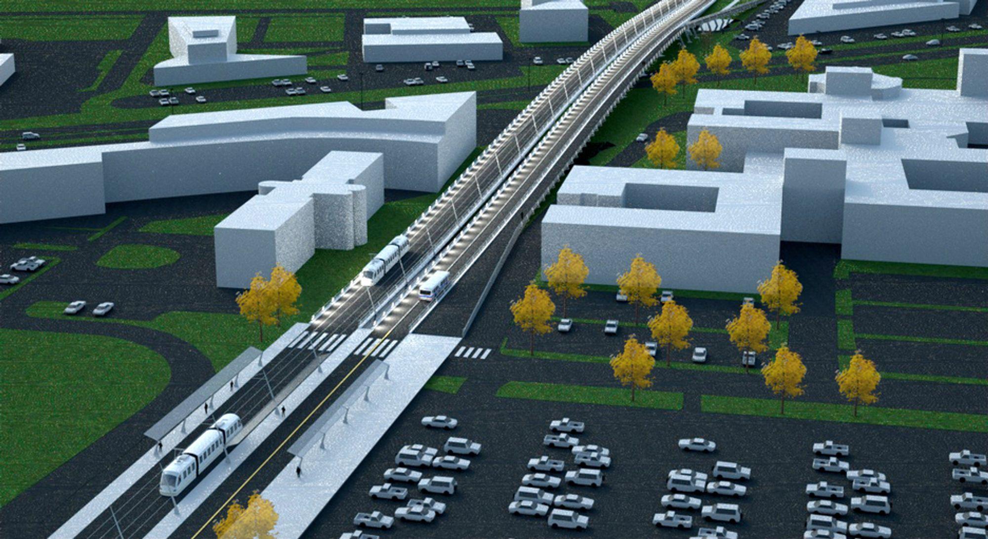 Bybane i Stavanger er ett eksempel på hva klimakvotepengene kan gå til, mener Venstre.