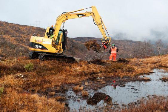 KLART FOR LUFTSPENN: Tirsdag morgen kom anleggsarbeidene i gang på Kvamskogen.
