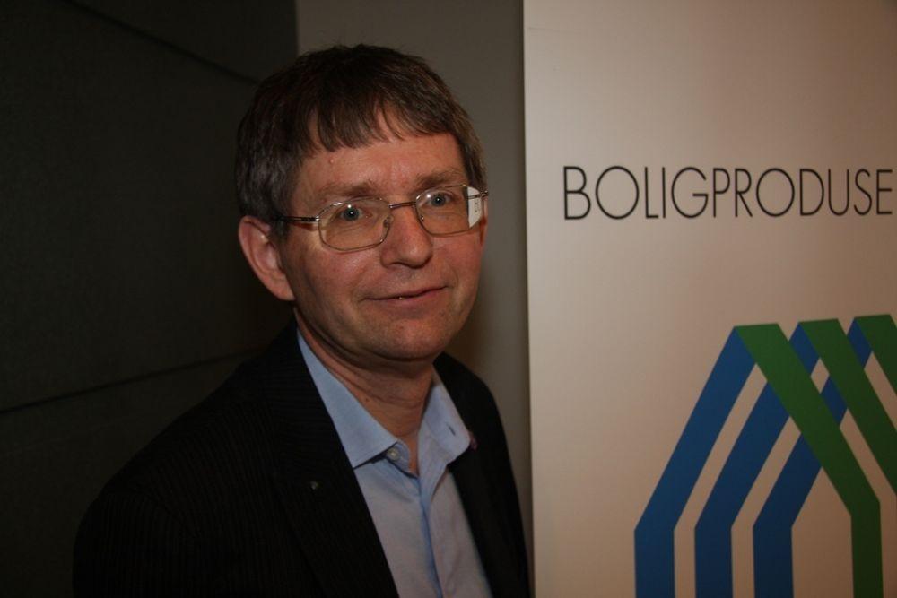OPTIMIST: ¿ Administrerende direktør i Boligprodusentenes forening, Per Jæger, tror på oppgang i boligmarkedet i år, først og fremst leiligheter og småhus.