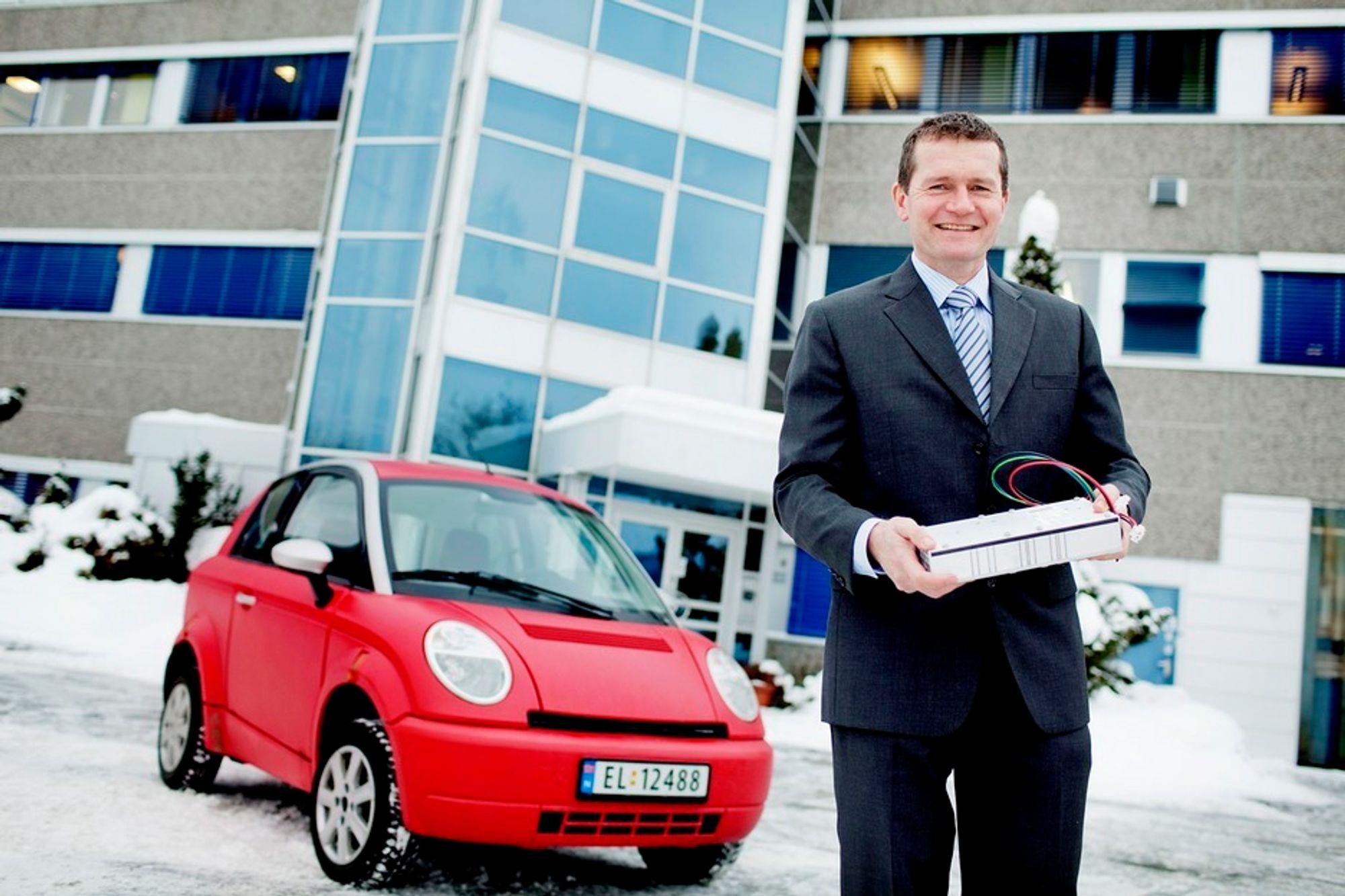 Markedsdirektør Morten Schøyen i Eltek Valere tror laderkontrakten med Think bare er starten på selskapets elbilsatsing.