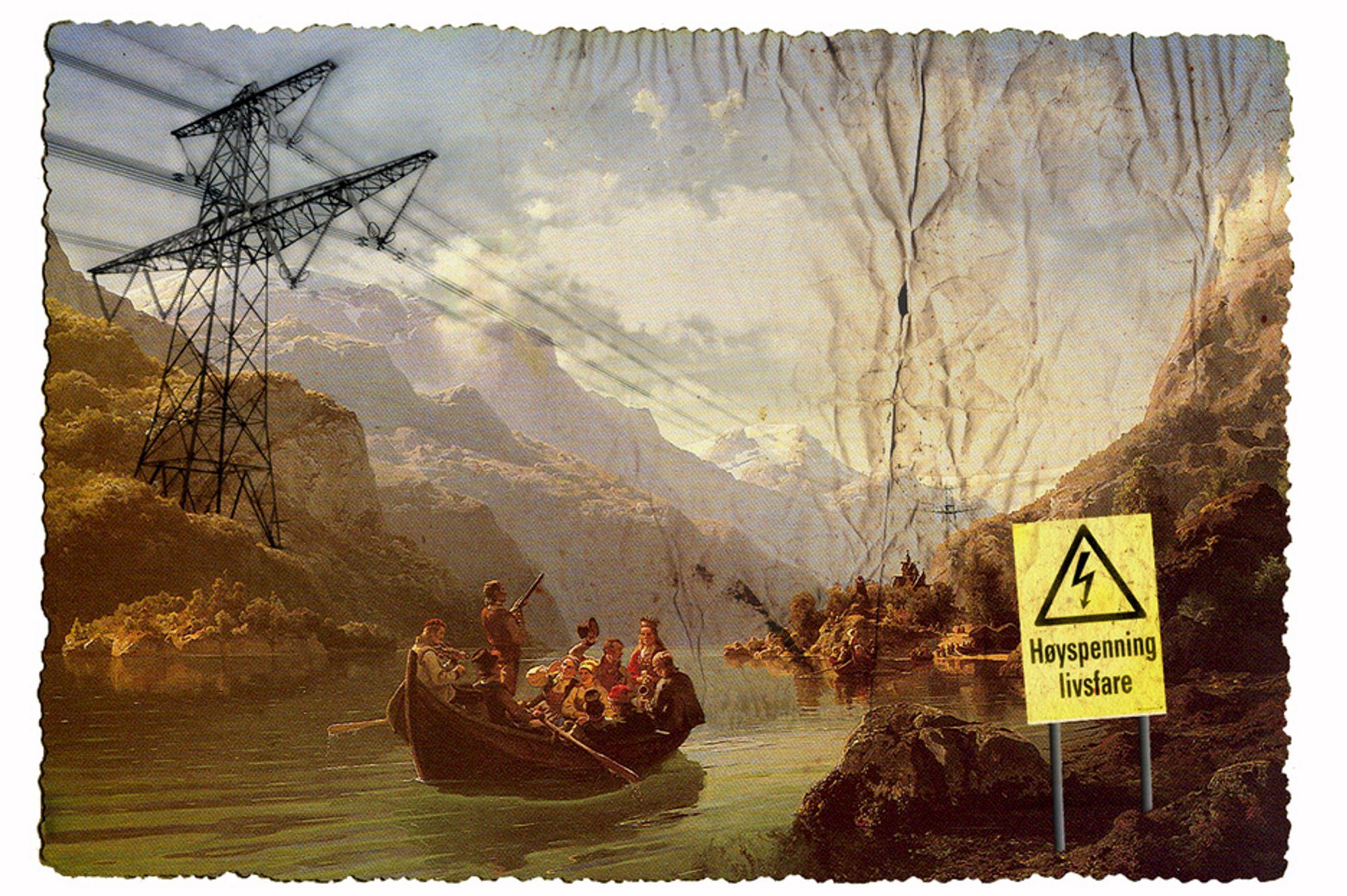 """KRAFTSTRIDEN: """"Brudeferden i Hardanger"""" har sin del av æren for det nasjonale opprøret mot kraftlinjer i Hardanger."""