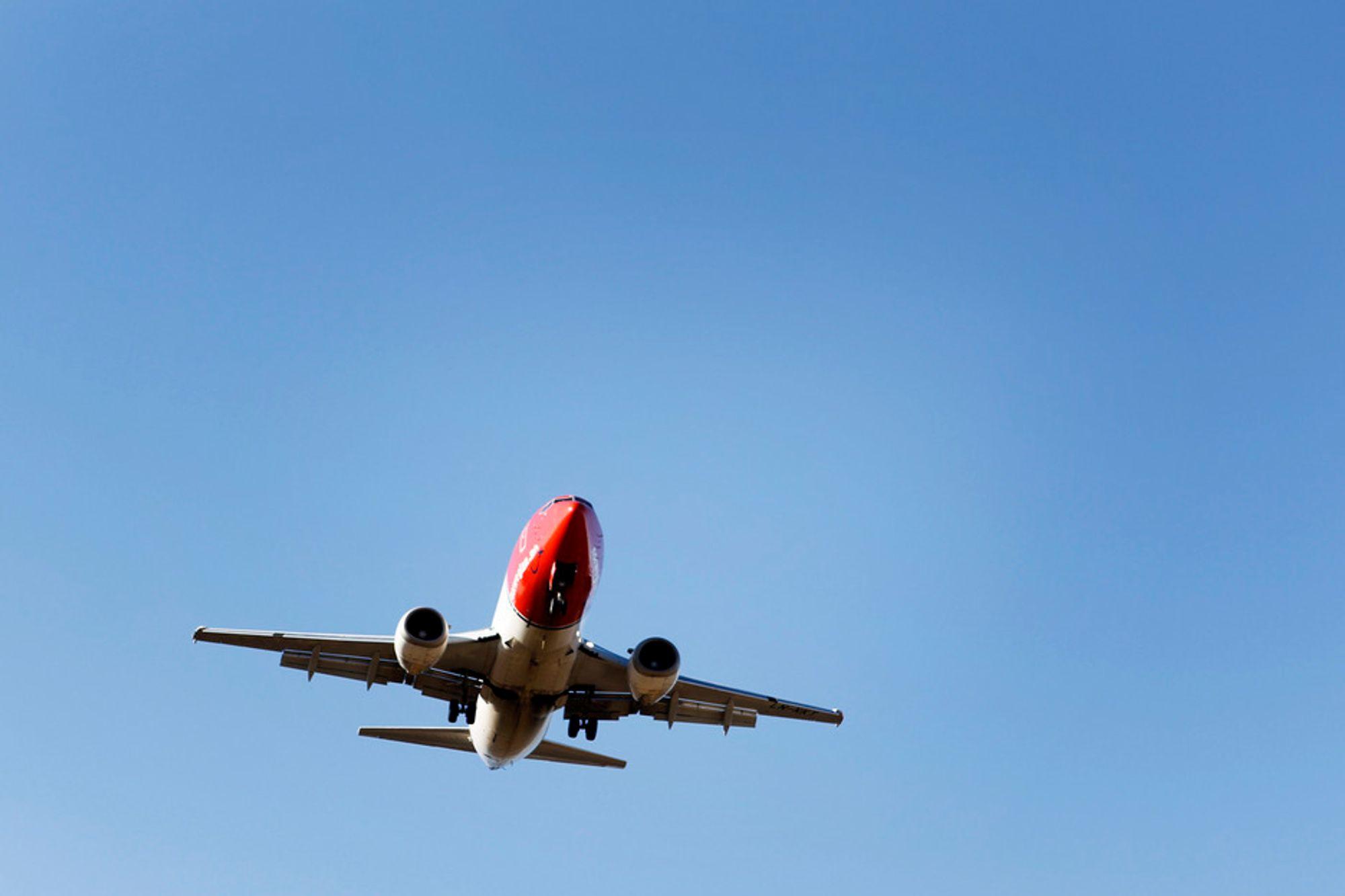 REGELBRUDD: 20 prosent av alle avganger fra Oslo lufthavn Gardermoen bryter reglene ved å fly utenfor de definerte luftkorridorene. Illustrasjonsfoto.
