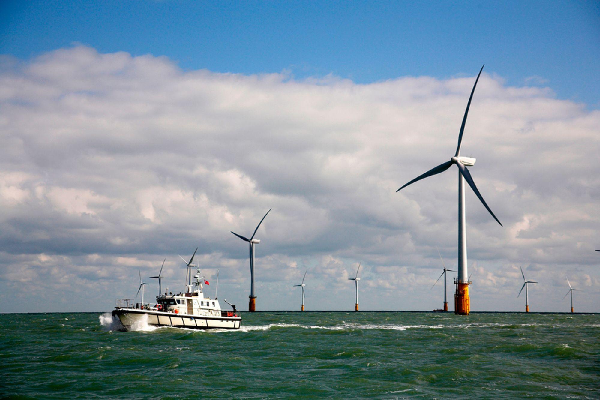 STØRST I VERDEN: Vindparken Thanet utenfor England er verdens største havvindpark med 300 MW installert effekt. Dermed er danske Horns Rev 2 danket ut.