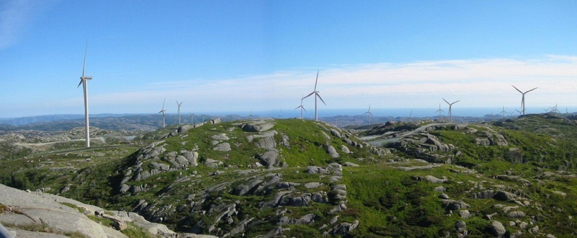 TELLENES: Slik kan Tellenes vindpark i Rogaland komme til å se ut. Den er på 156 MW og kan produsere opptil en halv terawattime strøm årlig. Selskapet Zephyr overtatt to planlagte vindparker fra Statoil.