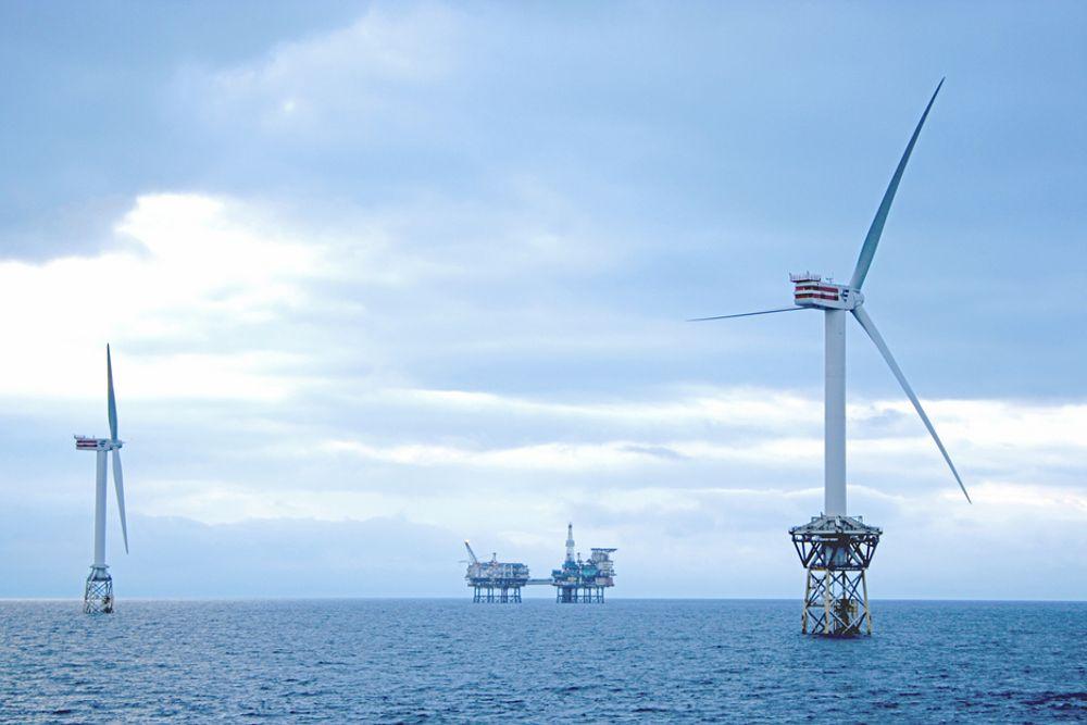 STORE TURBINER: Gjennomsnittlig størrelse på havmølleturbinene som ble installert i Europa i første halvår i år var 3,4 MW, opp fra 2,9 MW samme periode i fjor.