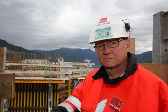 Anleggsleder Willy Olsen, Veidekke Entreprenør. Prosjektsjef for Hardangerbrua