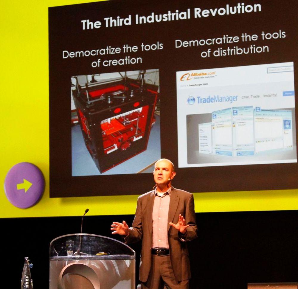 Wired-redaktør Chris Anderson mener 3D-printere blir allemannseie innen 10 år.