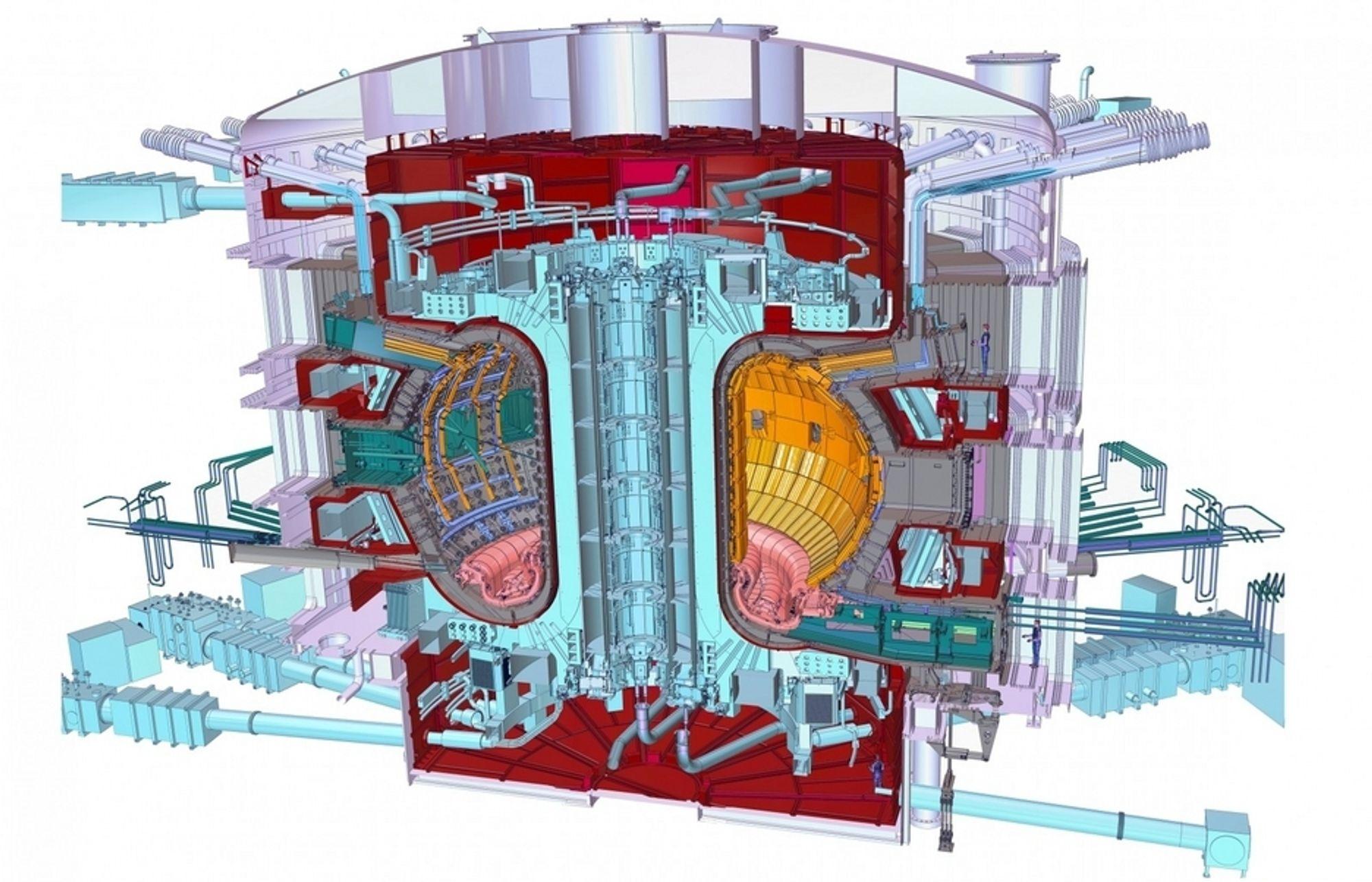 ETT SKRITT NÆRMERE: Et tverrsnitt av den fremtidige reaktoren: ITER Tokamak.