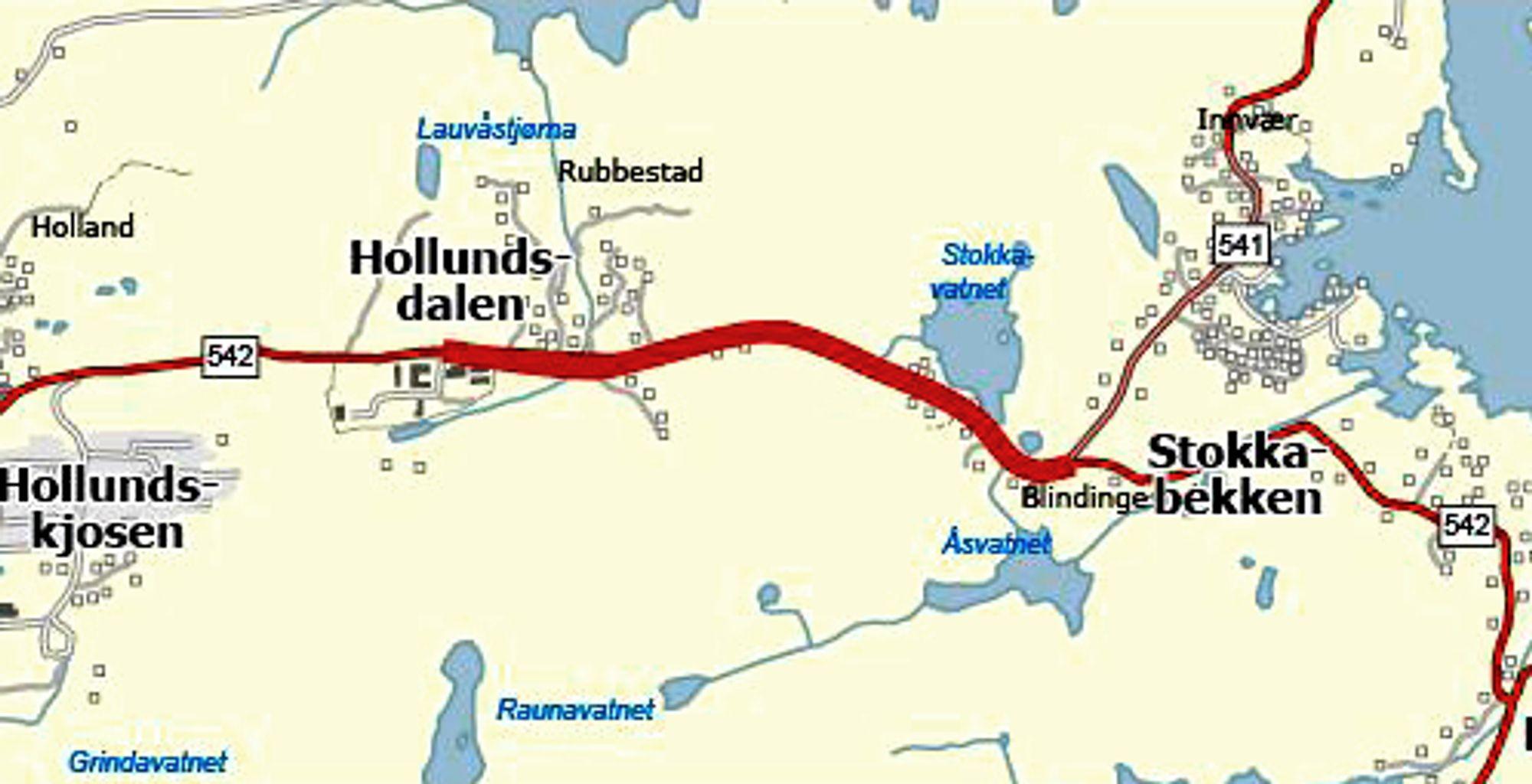 HAB Construction har fått kontrakten på utbedring av fylkesveg 542 mellom Hollundsdalen og Stokkabekken. Standardhevingen blir betydelig.