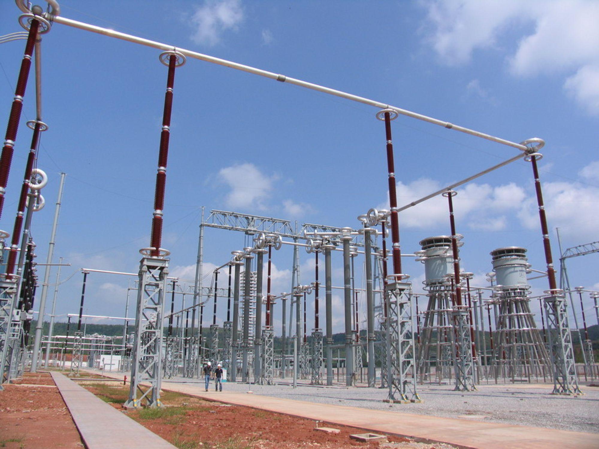 Siemens' nye HVDC-linje i Kina har en overføringsspenning på hele 800 kV.