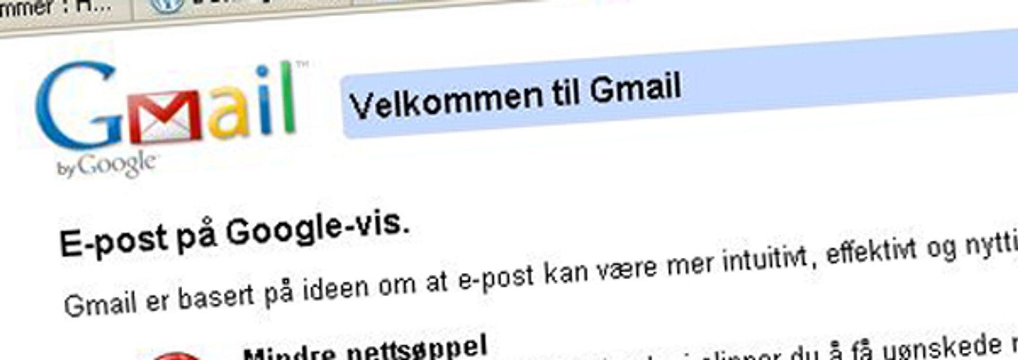 BLE HACKET: Google tar grep om sikkerheten til sin e-posttjeneste Gmail.