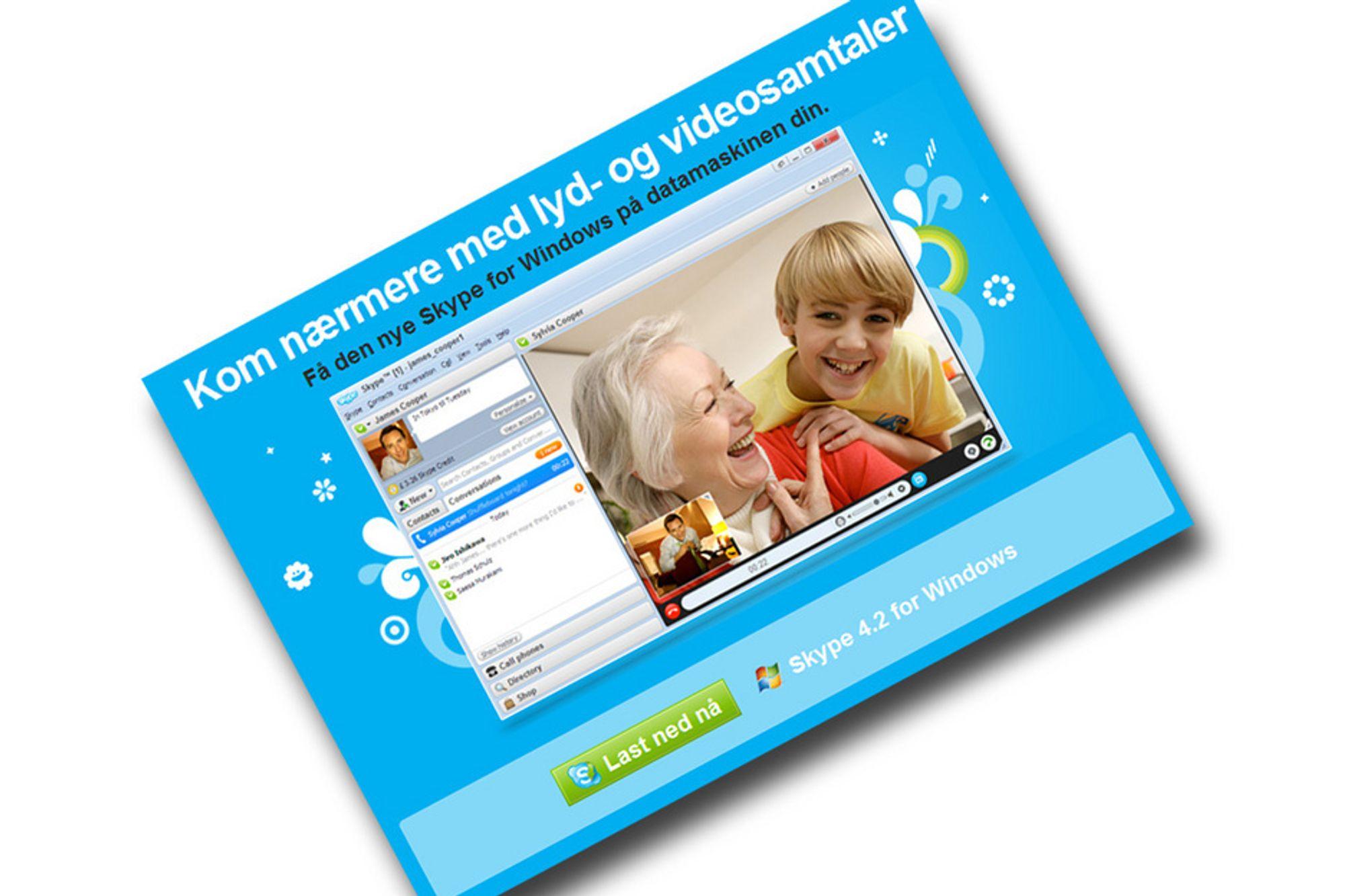 POPULÆRT: Skype har 124 millioner brukere hver måned. Det ønsker Microsoft å betale dyrt for.
