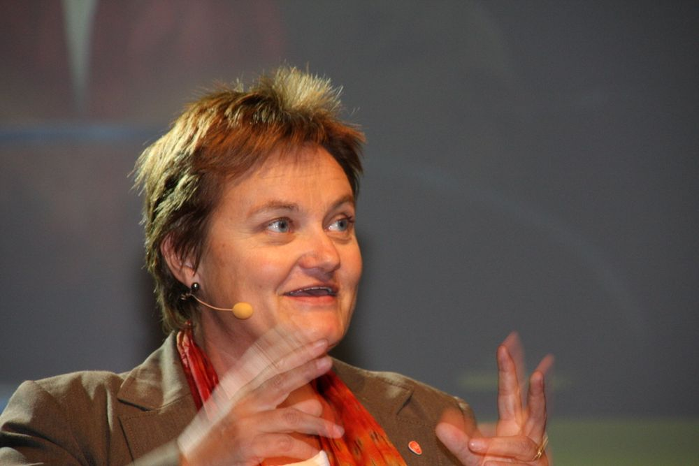 Fornyings- og administrasjonsminister Rigmor Aasrud. Fra It-tinget 2010.