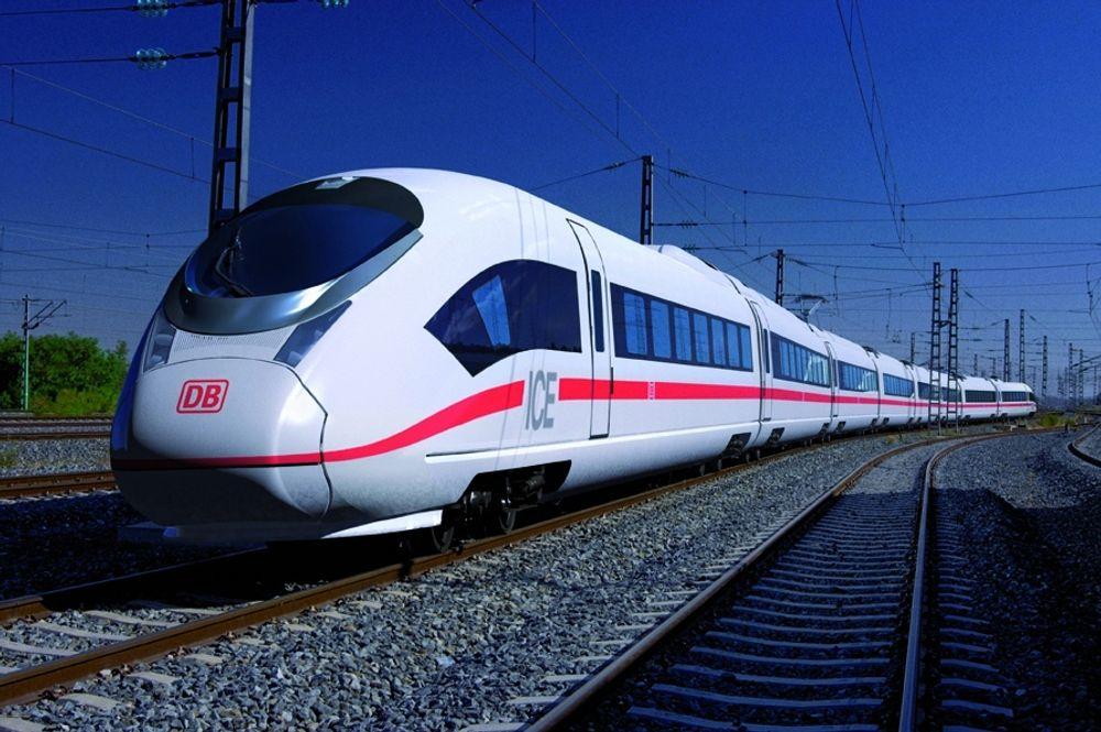 400 KM/T: Siemens har nylig inngått en langsiktig milliard-kontrakt med Deutsche Bahn om levering av de nye Velaro-togene som i tester har oppnådd over 400 km/t.