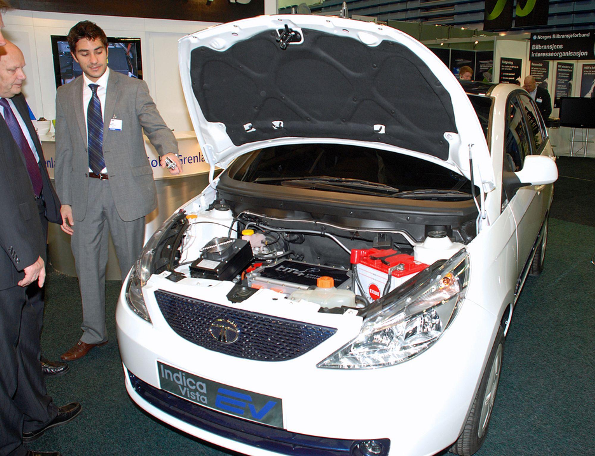 Indica Vista EV kommer til Norge og England som skall, såkalte «glidere», fra morselskapet Tata Motors i India.