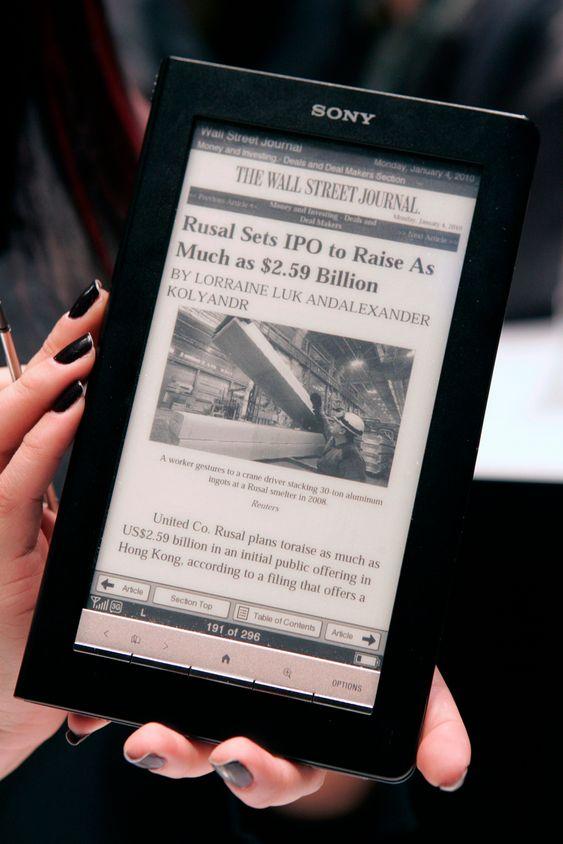 """Sony e-bok elektronisk bok lesebrett Sony """"Daily edition"""" e-reader"""