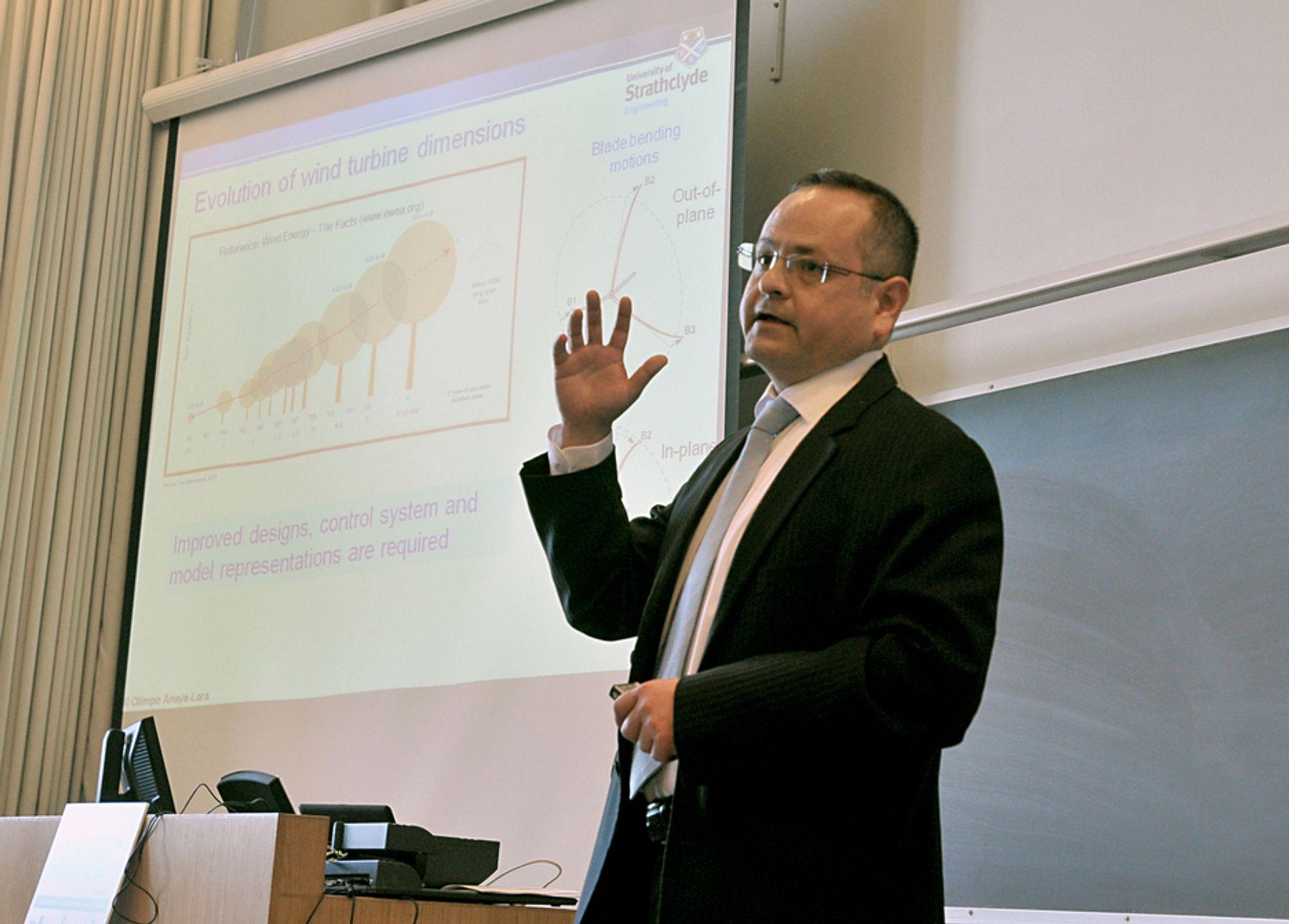 EKSPERTGAVE: Professor Olimpo Anaya-Lara fra University of Strathclyde i Skotland skal være gjesteprofessor ved NTNU.