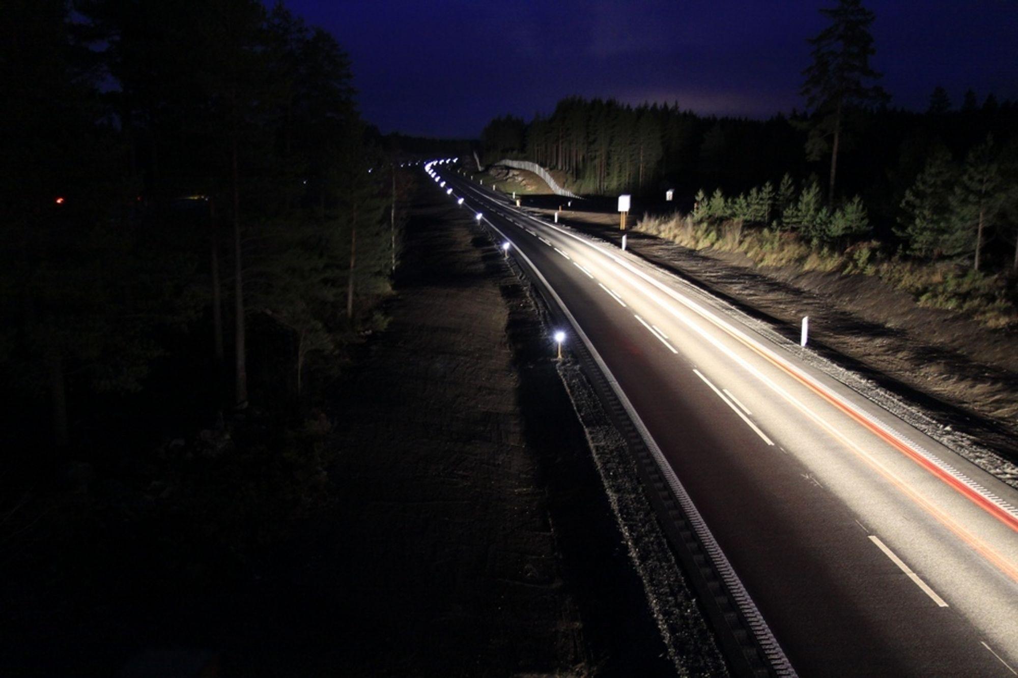 """REFLEKSBRIKKER BILLIGERE: - Da vil man ikke """"bare"""" spare 98 prosent i strømutgifter, men hele 100 prosent, mener Petter Kristiansen i Veilyskompetanse AS."""