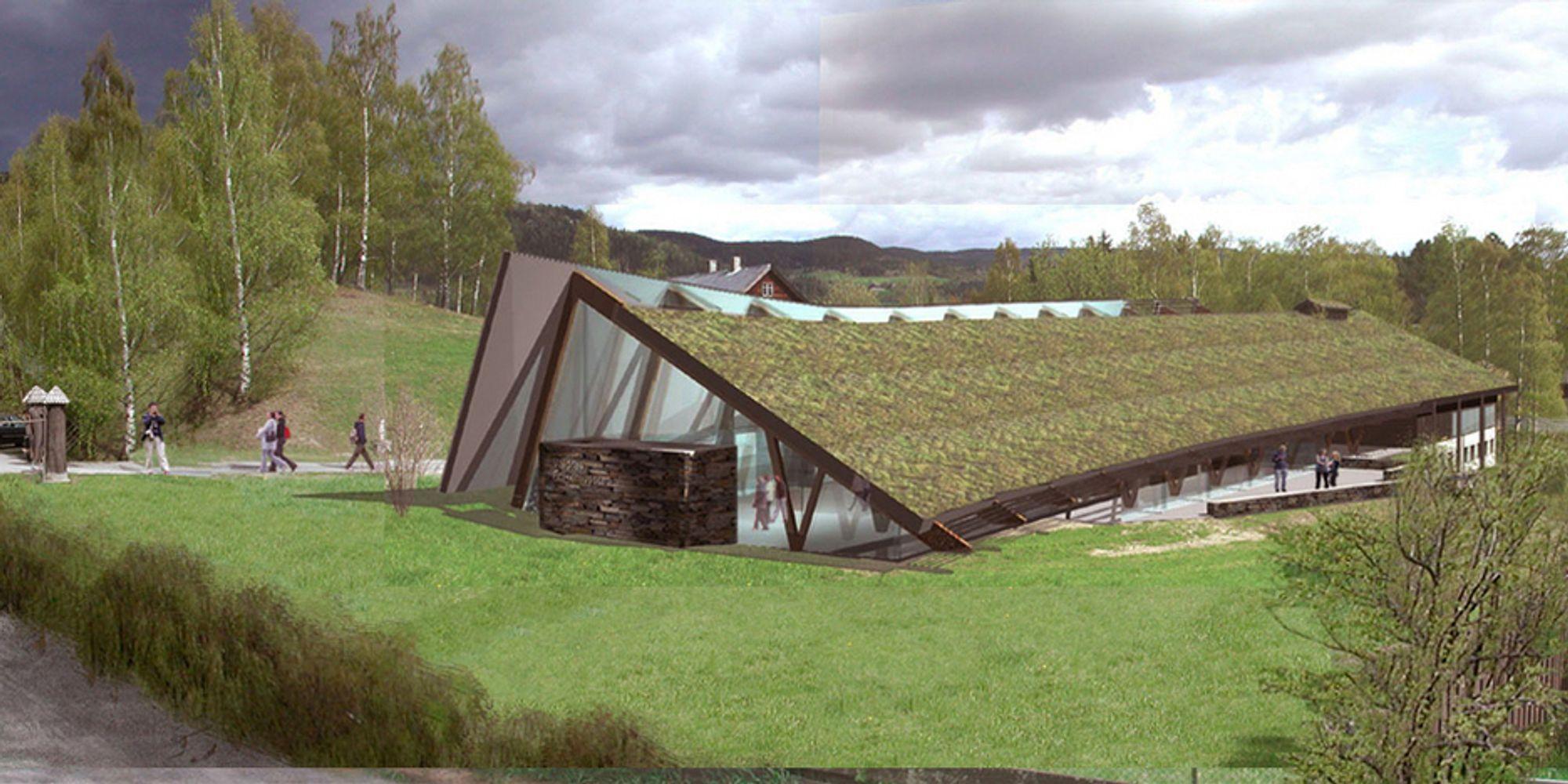 FÅR KRITIKK: Valdres folkemuseum kritiseres for å ha brukt regnskogtømmer i sitt nye utstillings- og velkomstbygg på Fagernes.