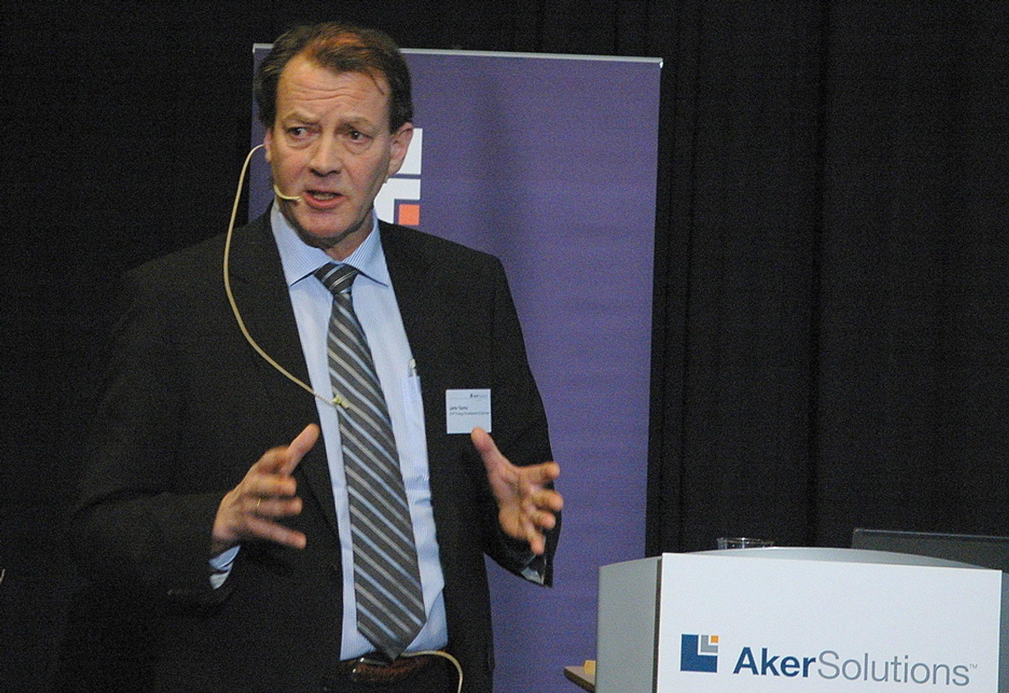 STRATEGISK VIKTIG: Både norsk og britisk sektor er strategisk viktige for oss, sier områdedirektør for ingeniørtjenester Jarle Tautra i Aker Solutions