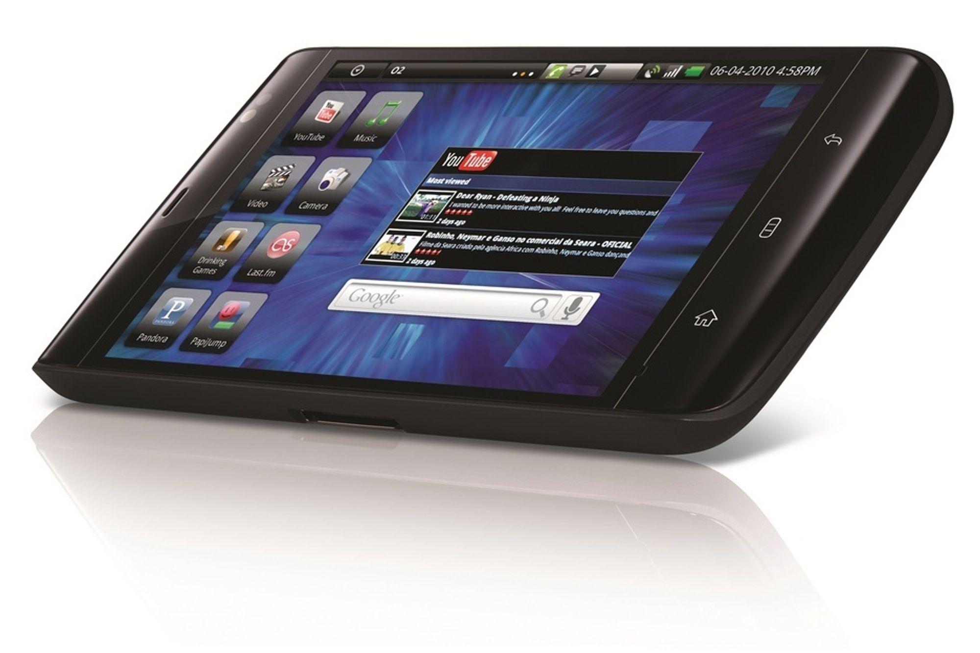 Dell Streak er en mellomting mellom mobiltelefon og surfebrett, med sin 5 tommer store skjerm.