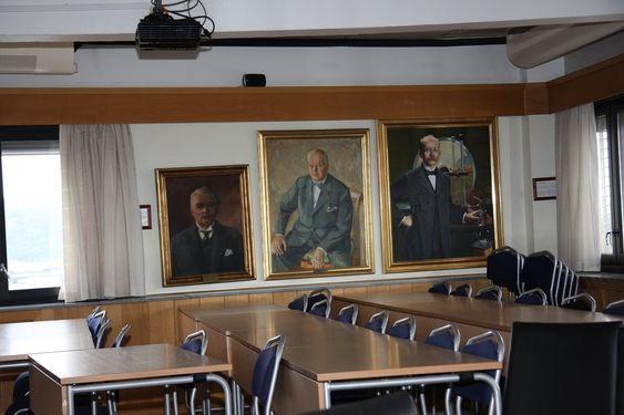 KLUBBEN: Det ærverdige møterommet i 9. etasje i Ingeniørenes Hus.