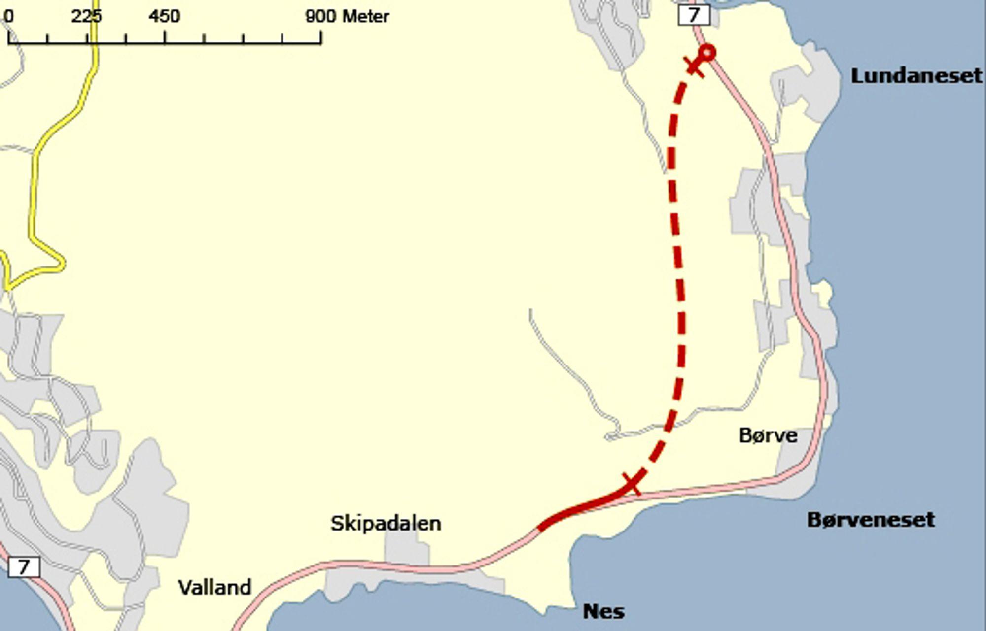 Fylkesveg 7 blir kortere enn nå når den nye vegen mellom Øystese og Nes blir ferdig neste år, men den viktigste grunnen til at vegen blir realisert, er den lave standarden på dagens veg.