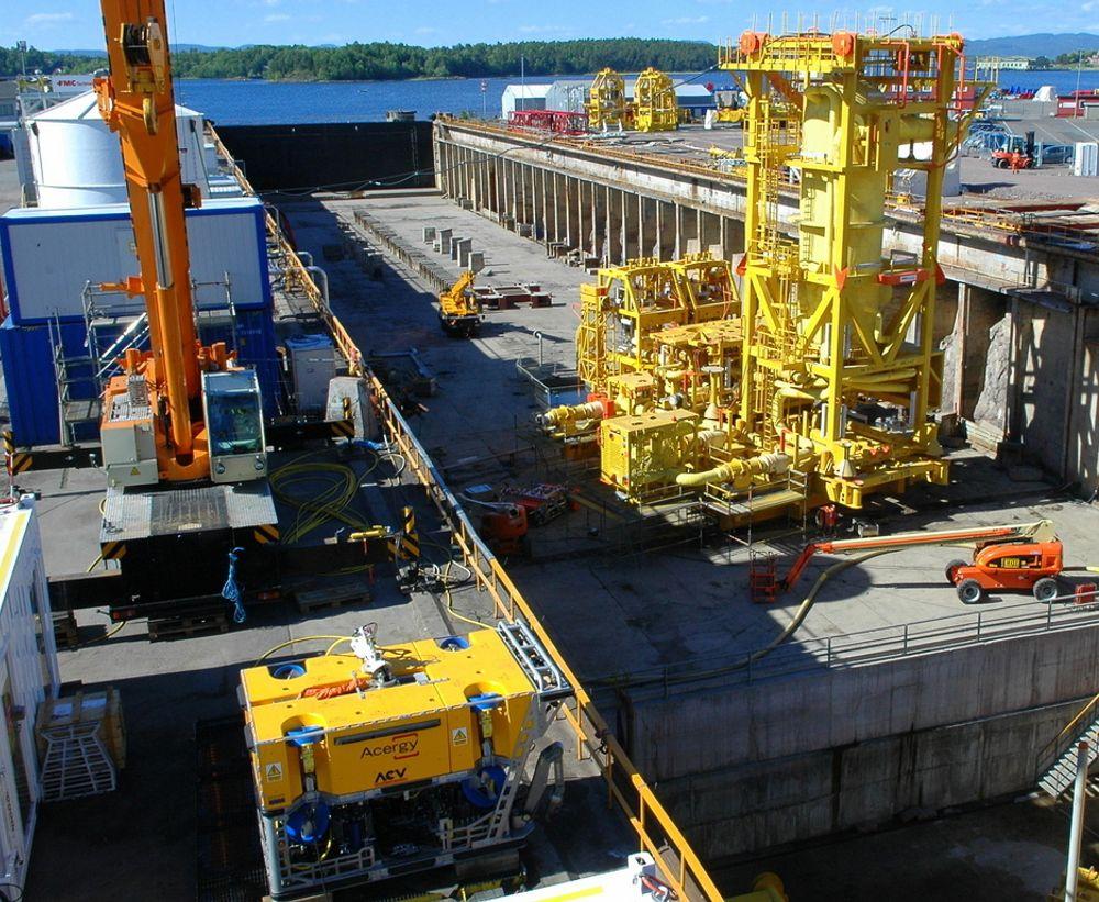 FRA BTV: Undervanns produksjonssystemer står for en sterk vekst. Her ligger bedriftene i BTV i framste rekke med FMC og Aker Solutions som hoveeverandøerer, mens selskap som Grenland Group bygger. Avbildet er undervanns prossessanlegget til Pazflor utenfor Angola, levert fra Kongsberg, bygget i Tønsberg og testet i Horten.