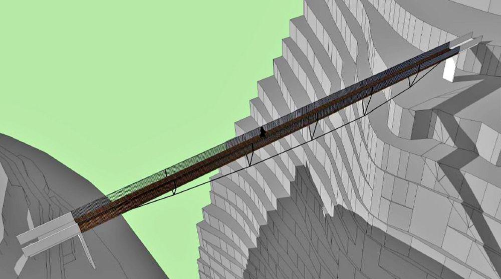 Dette er et av forslagene til hvordan Sabetjohk bru skal se ut. Den som får kontrakten skal selv stå for prosjekteringen.