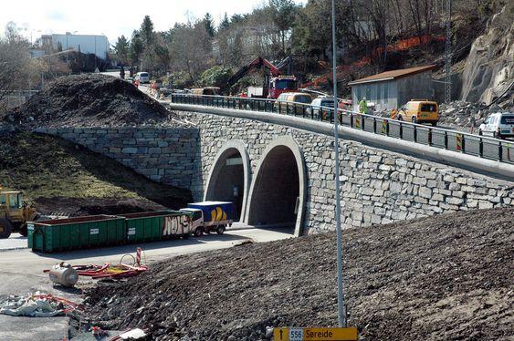 FORSINKET: Åpningen av Knappetunnelen på Ringveg Vest i Bergen blir forsinket fordi betongelementene må inpregneres.