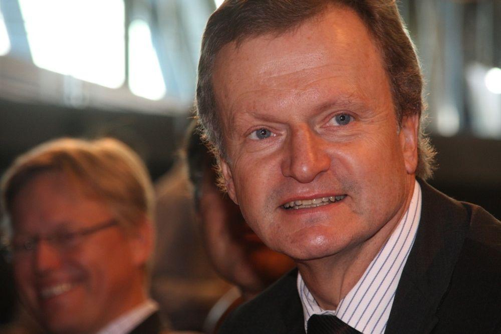 IKKE AKKURAT KRISE: Telenors konsernsjef Jon Fredrik Baksaas kan smile av kvartalstallene.