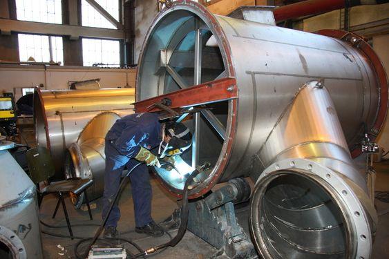 DUPLEX: Scrubberen til Hamworthy Krystallon skal stå mot sjøvann, svovel og andre korrosive stoffer og er derfor laget i duplex stål.