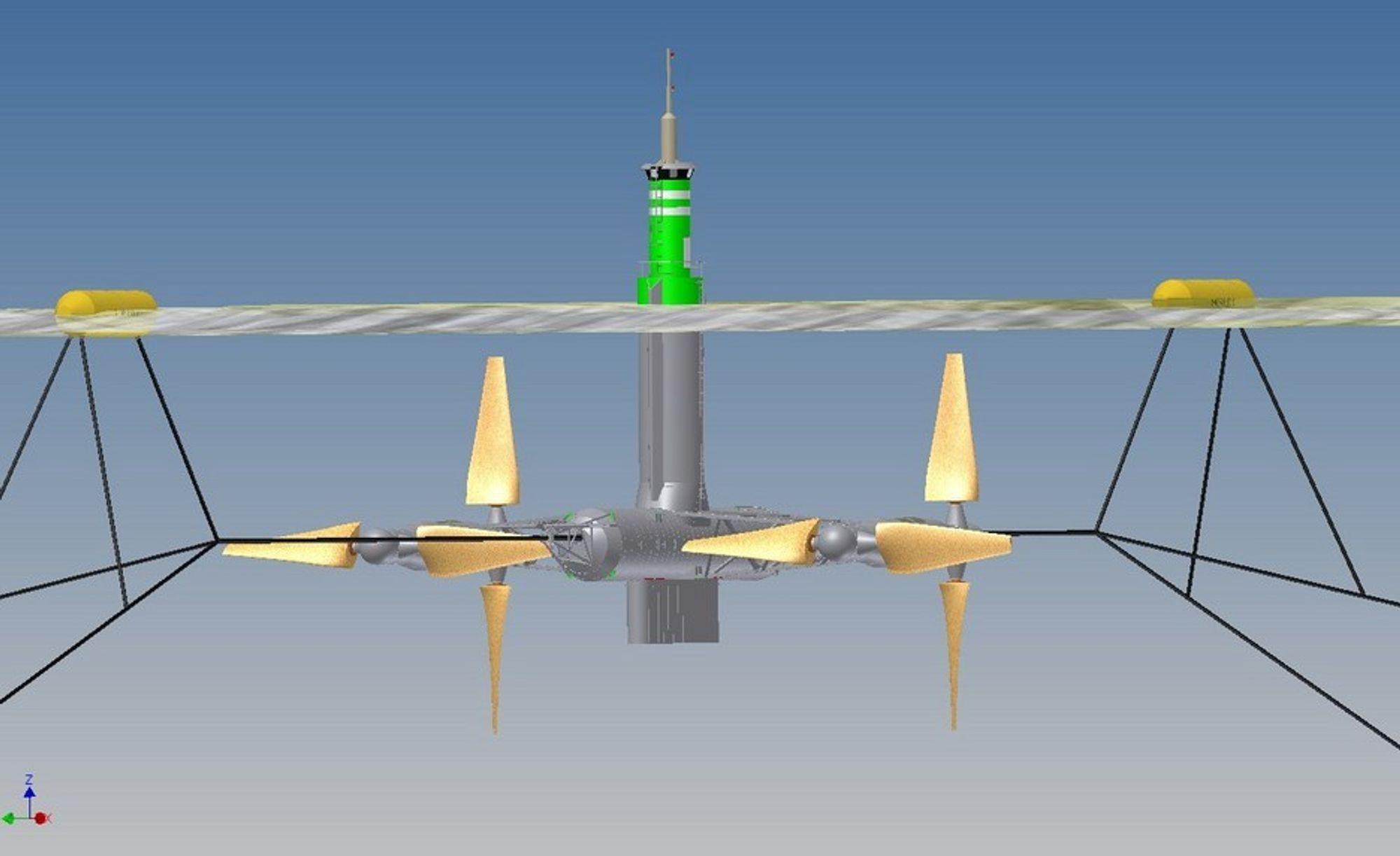 Morild II, et tidevannskraftverk med fire turbiner med limtreblader, som nå er prisbelønt.