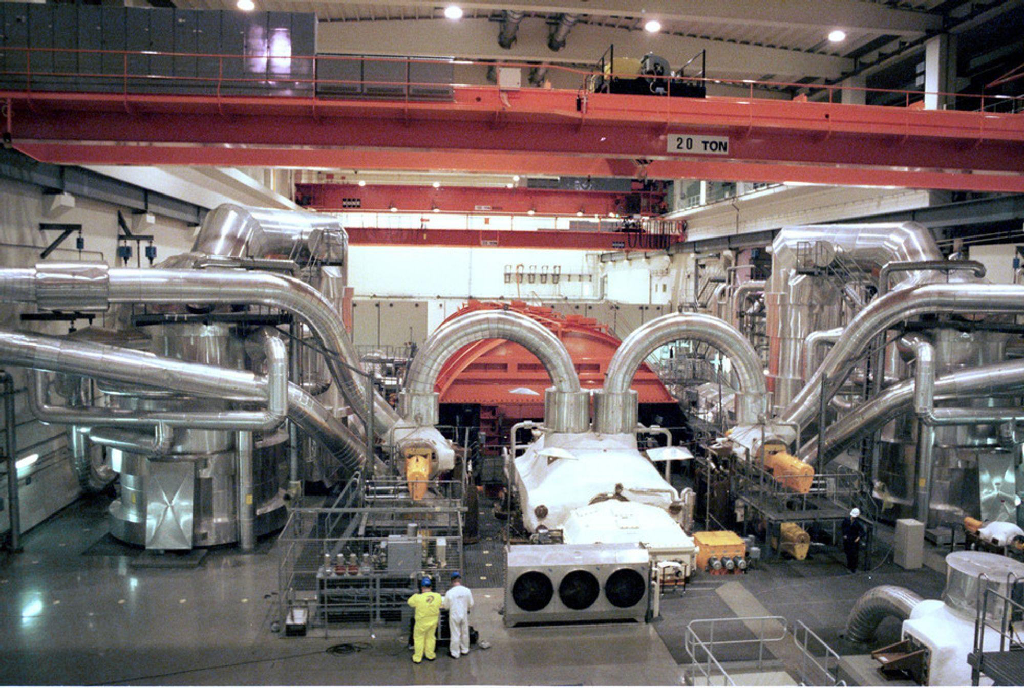FULL PRODUKSJON: Turbinen Oskarshamn 3 er oppgradert, og har satt flere produksjonsrekorder den siste tiden.
