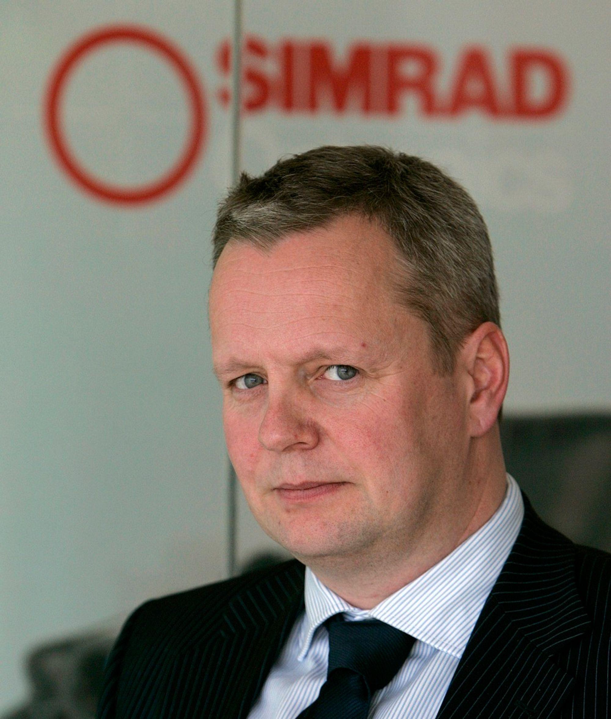 Jon Asbjørn Bø, konsernsjef i Simrad Optronics.