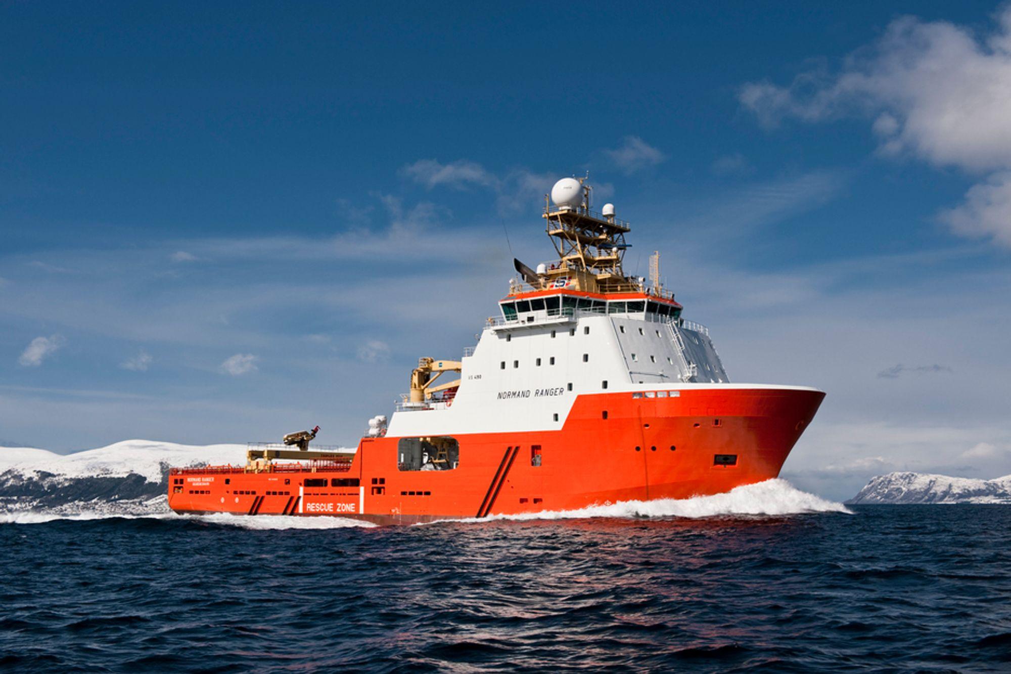 KRAFTPLUGG: AHTS Normand Ranger er bygget med VS 490 AHTS design fra Wärtsilä. Trekkraften er på 287 tonn.