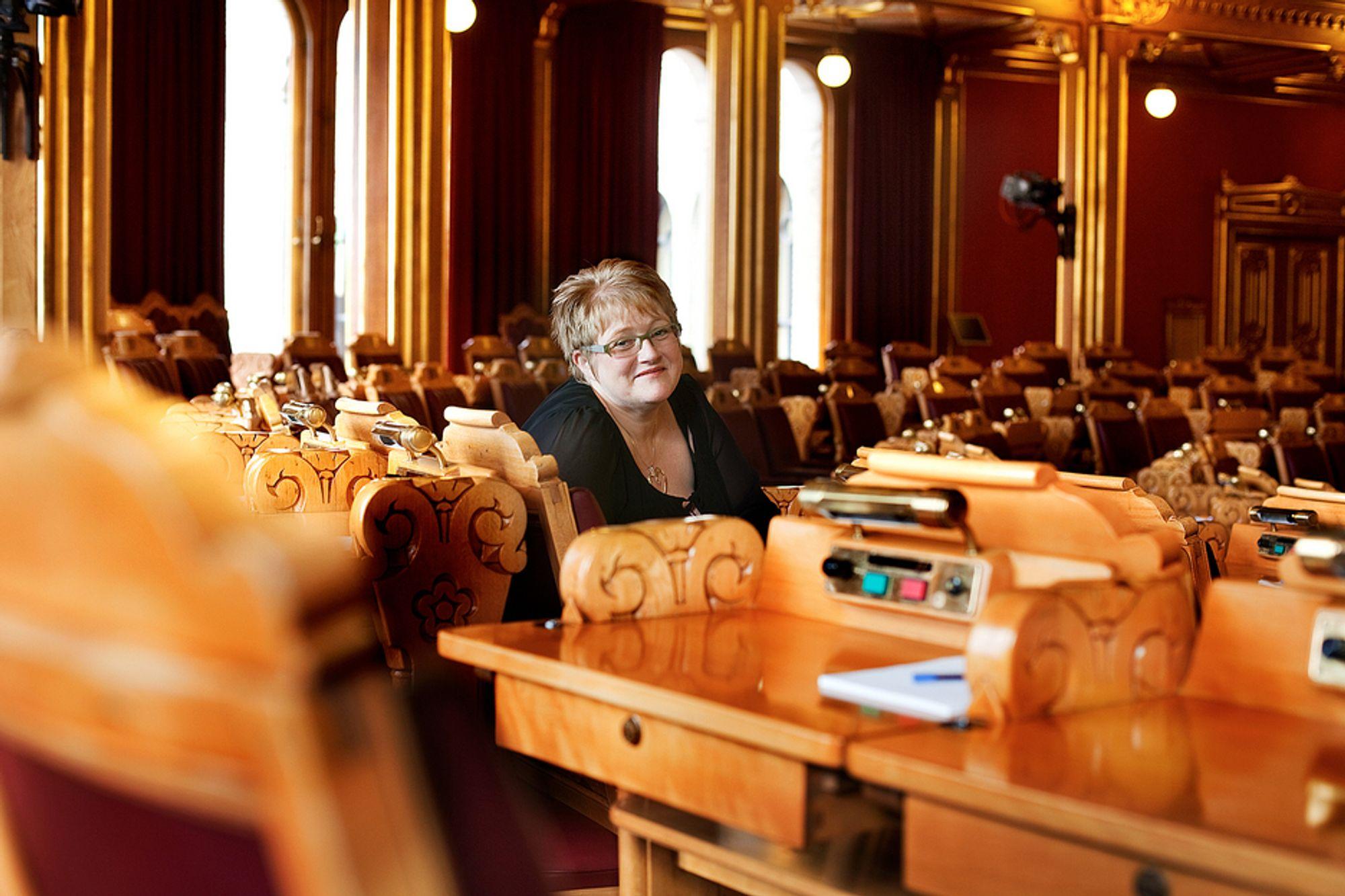 STERKE MENINGER: Trine Skei Grande er nyvalgt Venstre-leder. Hun mener Norge har et luksusforhold til strøm, og blir skremt av Kripos og PST i DLD-debatten.