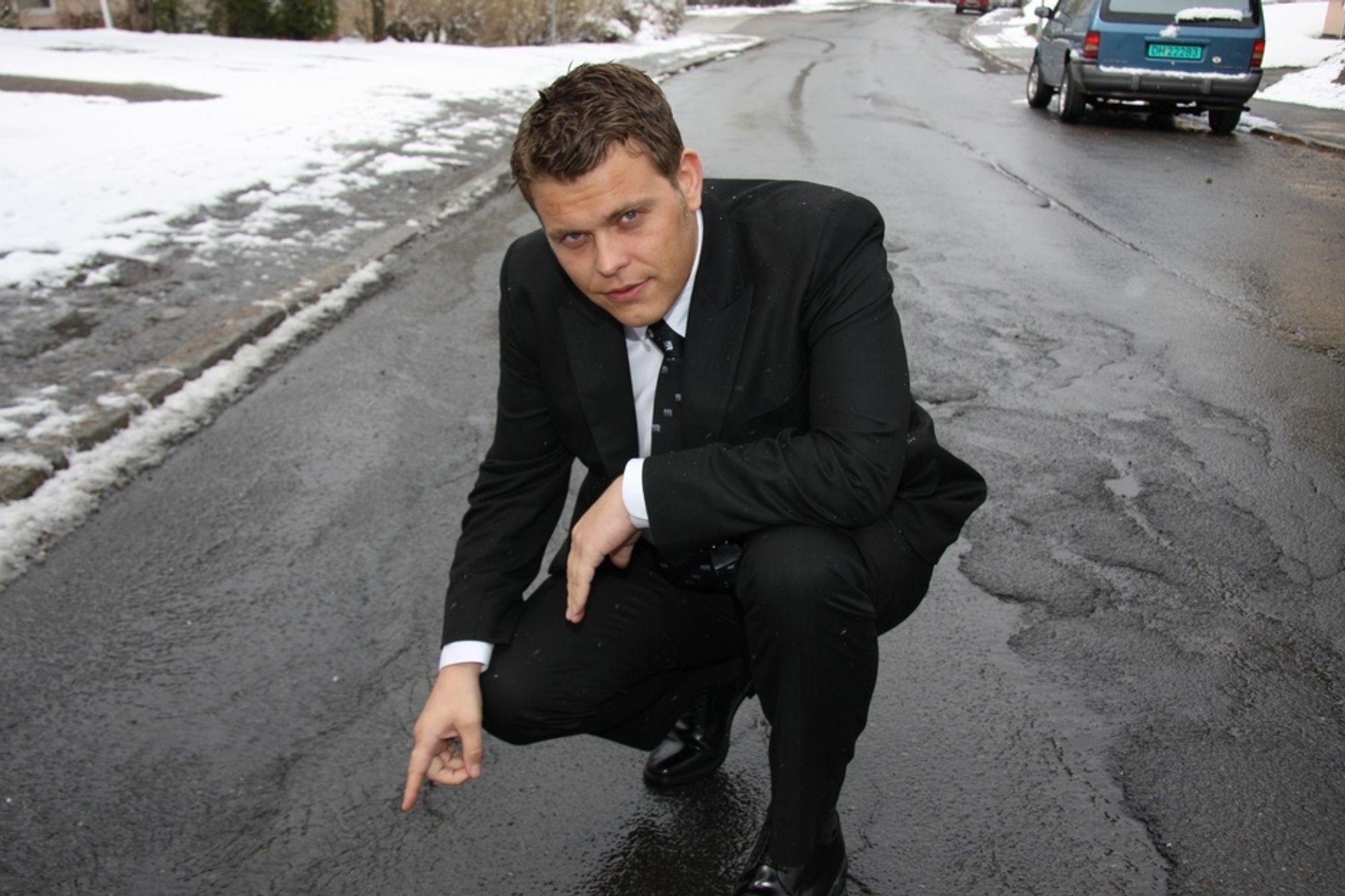 Samferdselsbyråd i Oslo, Jøran Kallmyr, innrømmer at Oslo-veiene ikke vil bli akseptable før en nasjonal kampanje med støtte fra Høyre i Stortinget er på plass.
