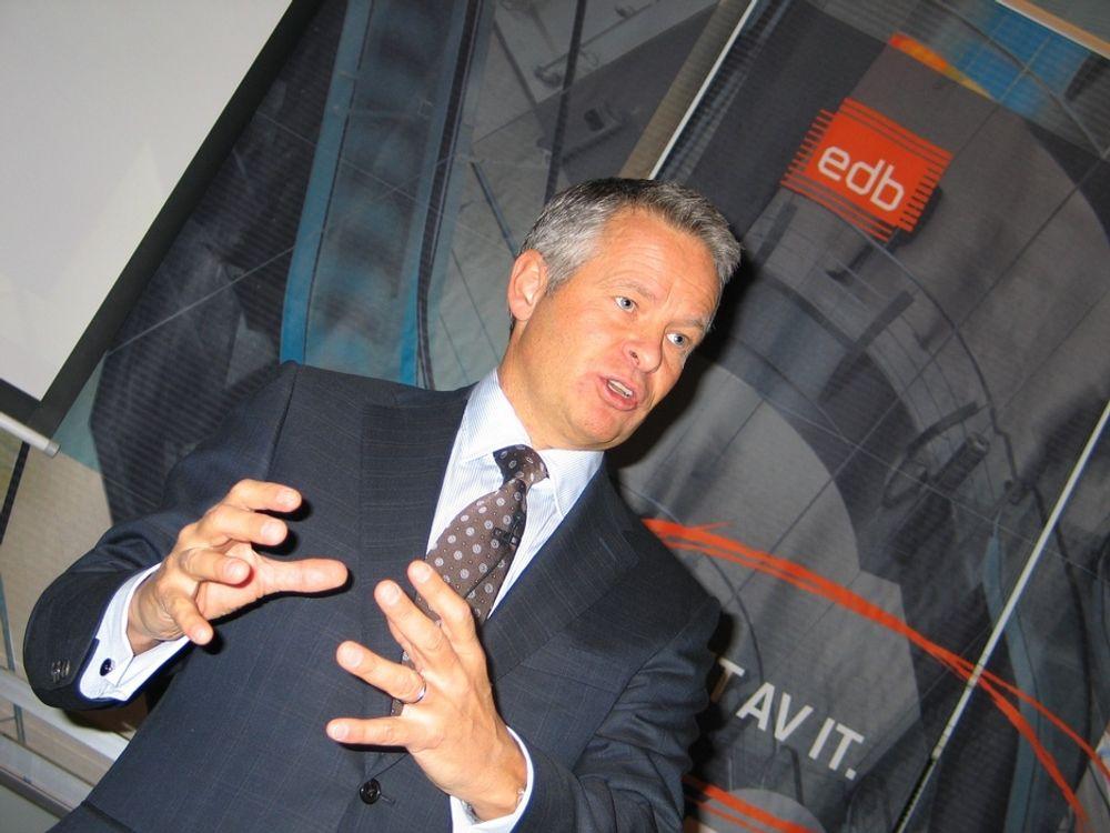 BYTTER BEITE: Endre Rangnes forlater EDB Business Partner for å bli konsernsjef i Lindorff Group.