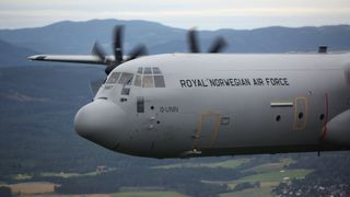 Alle fire C-130J Super Hercules på plass