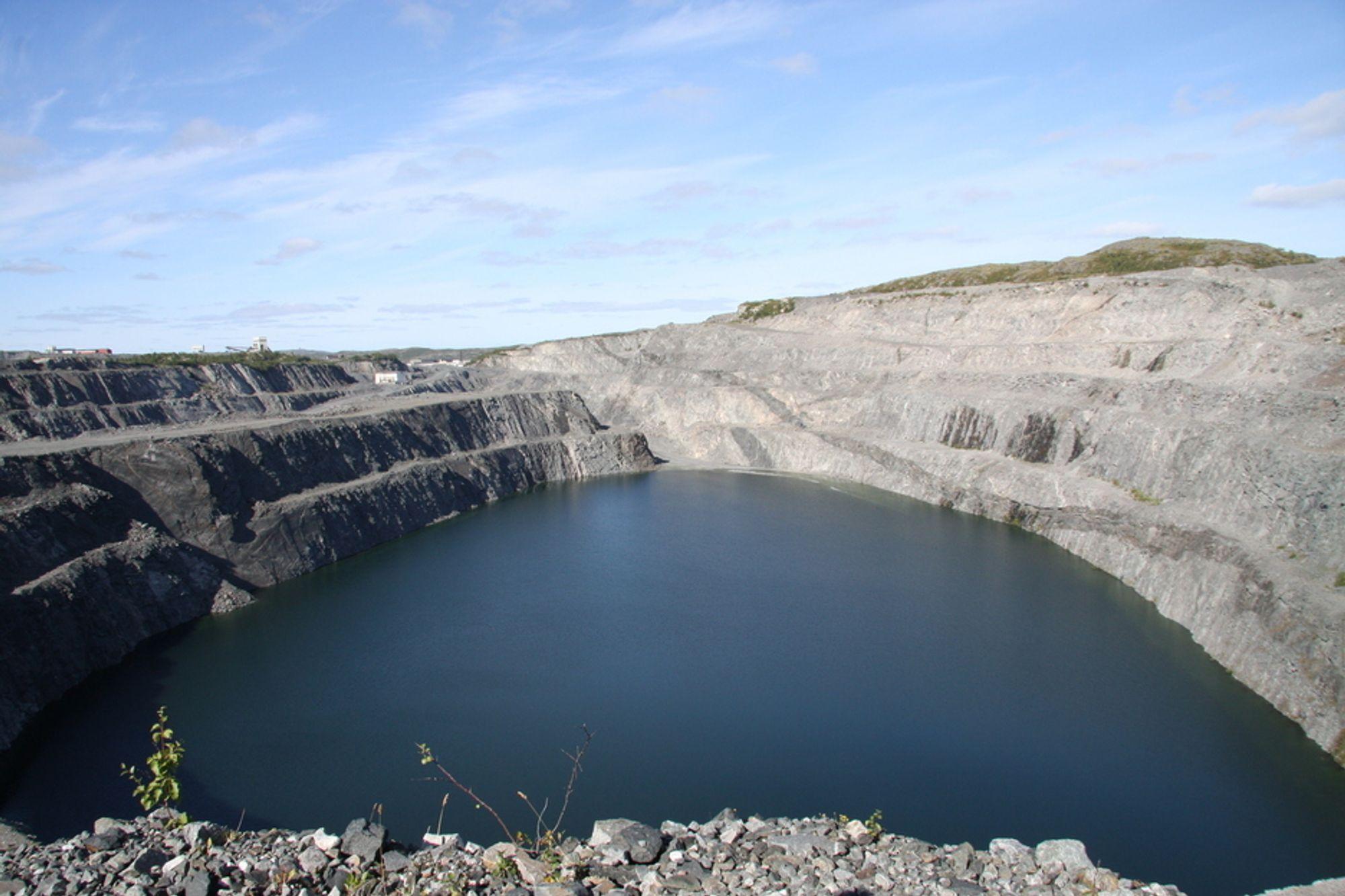BRUDD: Gruveområdet er enormt stort og dekker rund 22 kvadratkilometer.