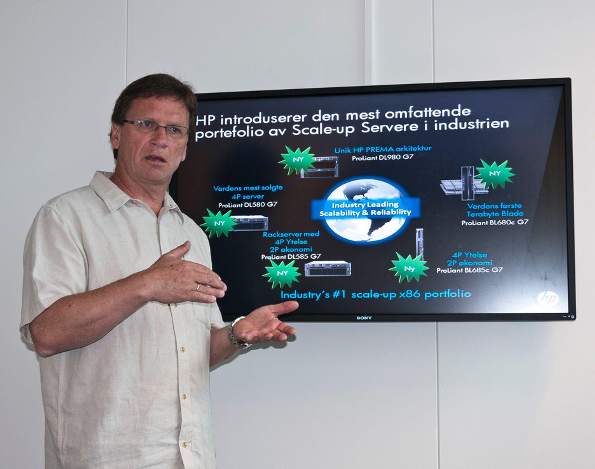 SLÅR PÅ STORTROMMA:I følge senior produktsjef for HP servere, Jan Fredrik Gunvaldsen er HPs nye serverlansering en av de viktigste på mange år.