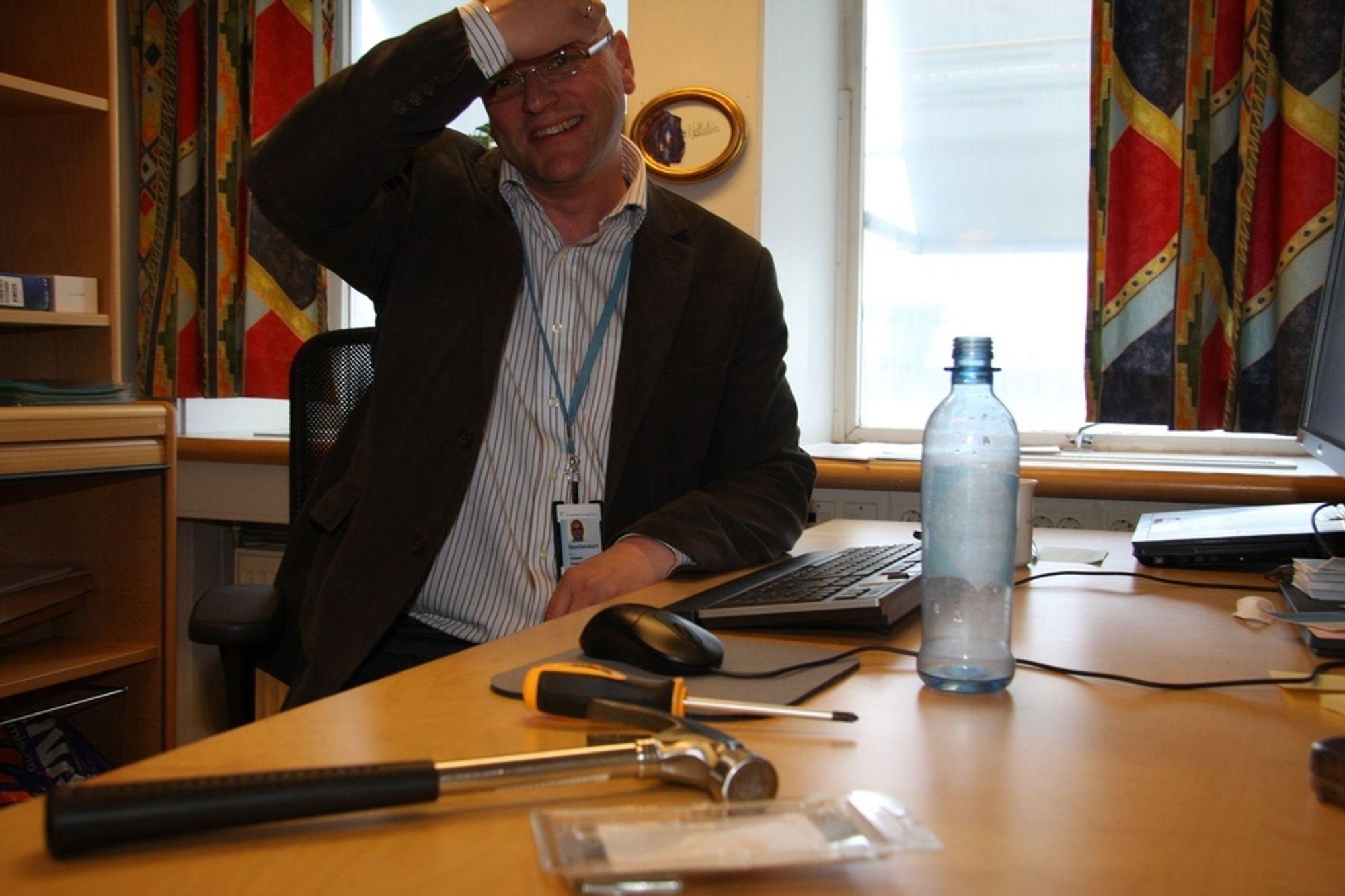 BYGGMESTER: Hallstein Husand er programleder for Altinn II, som legger grunnlaget or heldigital datautveksling mellom alle samfunnssektorer.