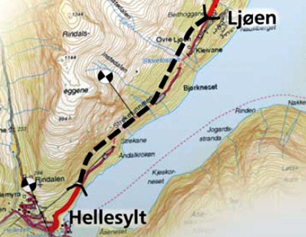 Streketunnelen blir 3 850 meter lang når forlengelsen nordover er fullført.