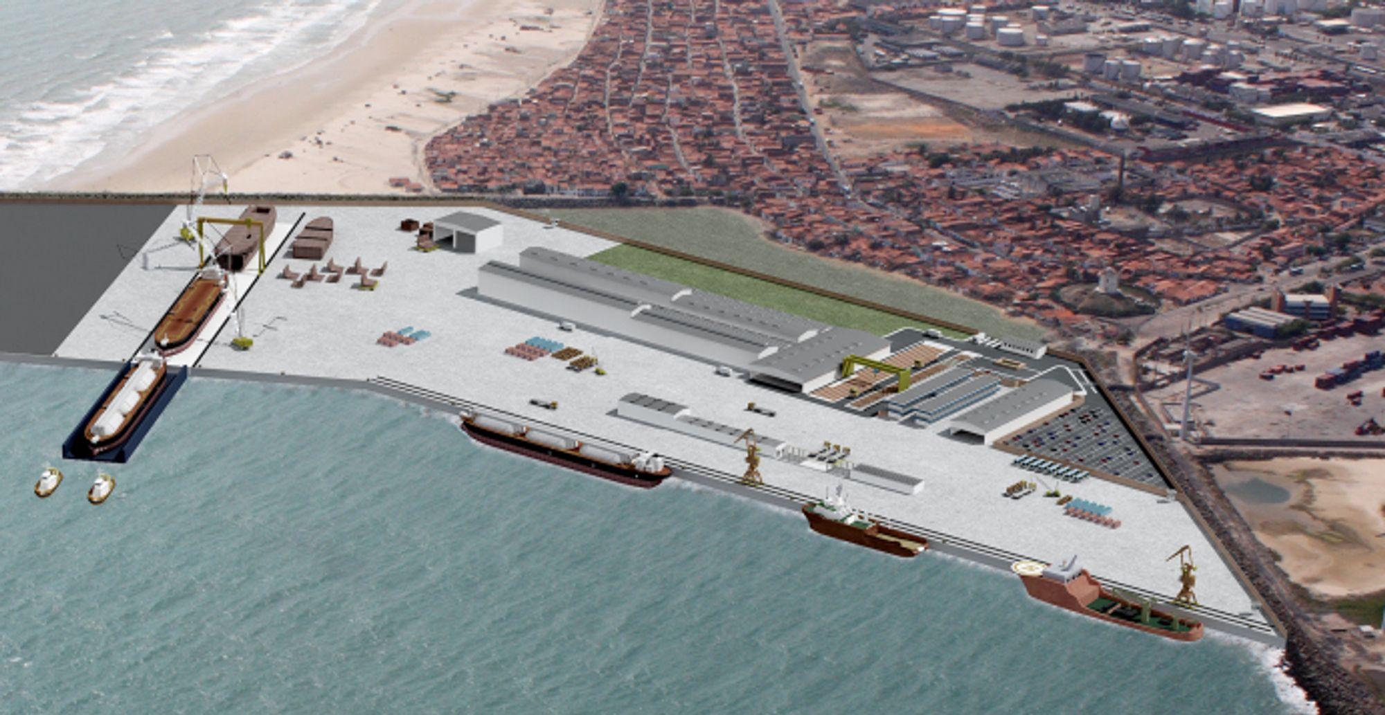 Det nye skipsverftet i Brasil skal bygge åtte nye LNG-tankere for Transpetro.