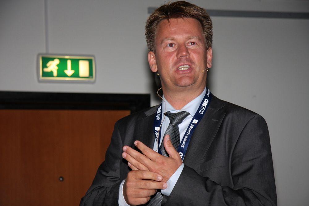PENGER: Direktør Mads Andersen ser mange interessante, tekniske utfordringer for Aker Solutions subsea.