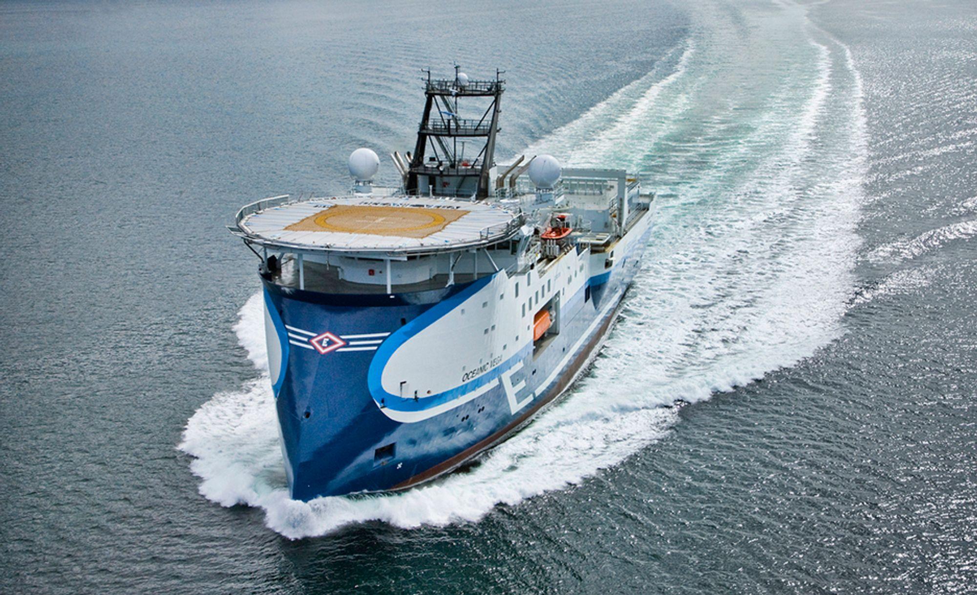 SKYTER: Oceanic Vega er av typen SX 120, designet og bygget i Ulsteinvik for Eidesvik Offshore.
