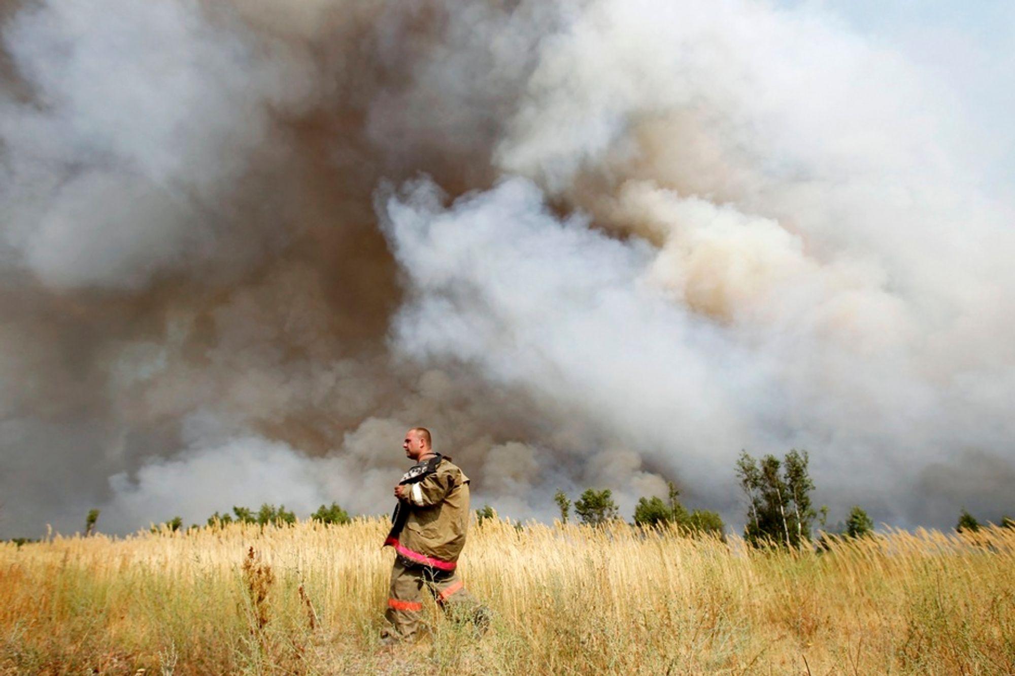 FRYKTER GAMMELT NEDFALL: Brannene i Russland sprer seg fortsatt ukontrollert. Miljøorganisasjoner frykter spredning av radioaktivitet dersom områder dekket av nedfall fra Tsjernobyl- og Majak-ulykkene settes i brann.