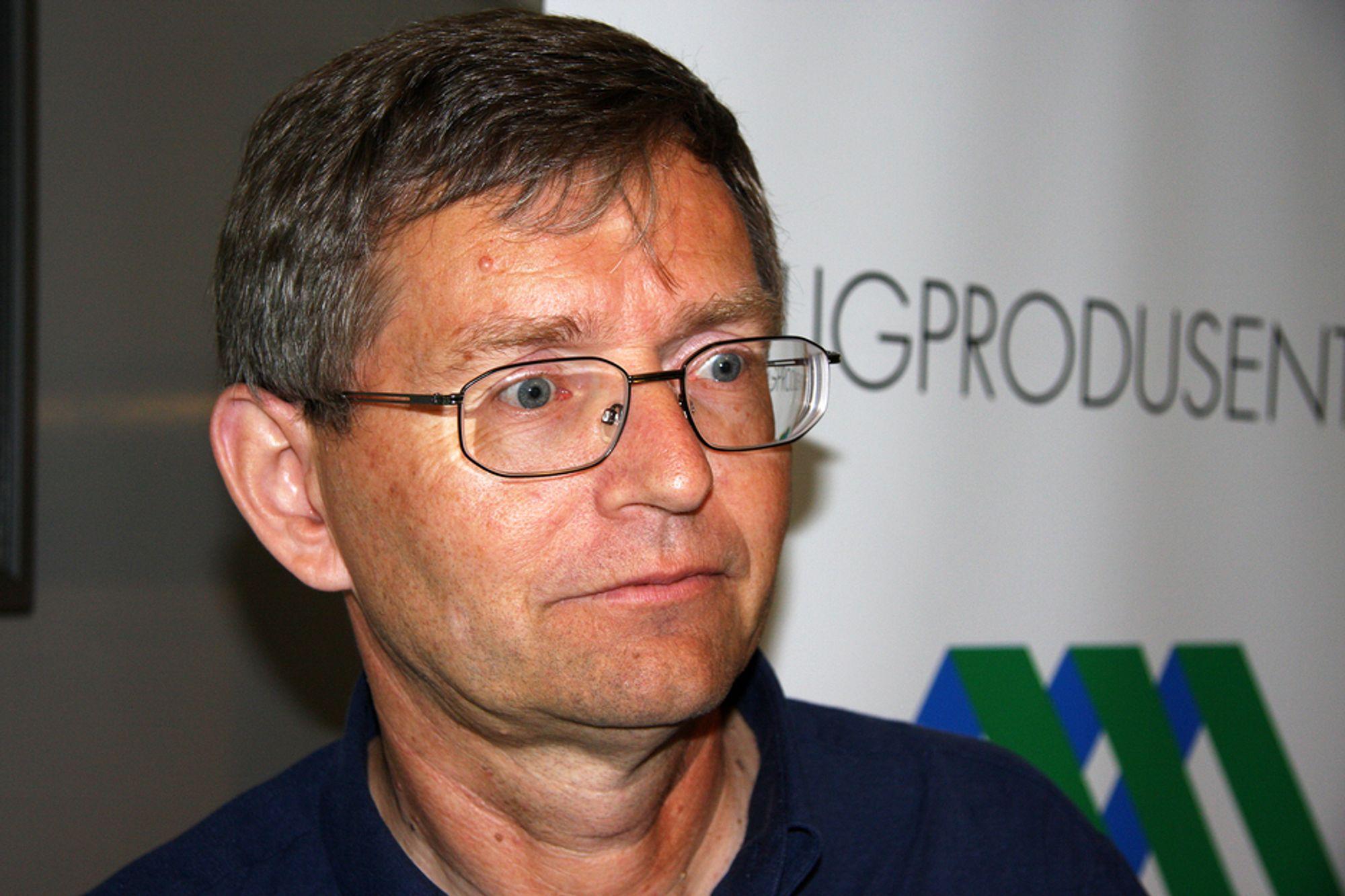 MISFORNØYD: Boligprodusentenes direktør, Per Jæger, er ikke fornøyd med Oslo og sier kommunen mangler en boligpolitikk.